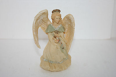 Angel Holding Star Figurine - Star Angel Figurine Holding Star Laden Ribbon Sash United Design Corp
