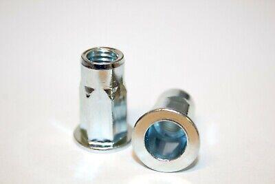 50 Stk Edelstahl A2 Blindnietmuttern M8 kleiner Senkkopf ger 0,5-3,0mm