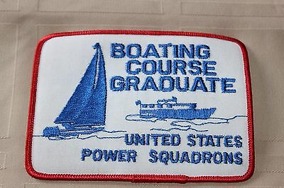 Agreed States Power Squadrons Boating Course Graduate Patch Badge Boats Safety