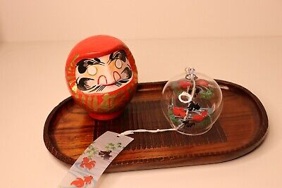 Windchime Bell Japanese With Fish Red, Wind Chime Good Luck Charm