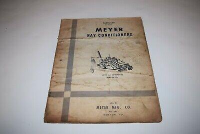 Meyer Hay Conditioner Model 1004 Parts List