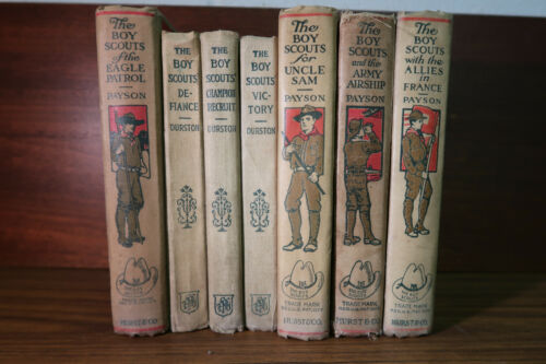 Lot of 7 Boy Scout Books/Stories From Early 1900