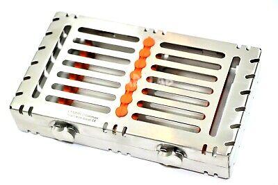 German Dental Autoclave Sterilization Cassette Racks Box For 7 Instruments-red