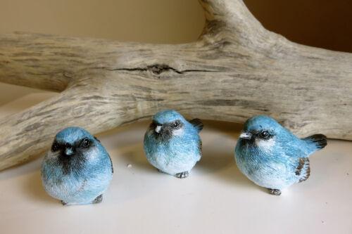 BLUEBIRD SET FIGURINES STATUE RESIN BIRDS COUNTRY New Garden Decor