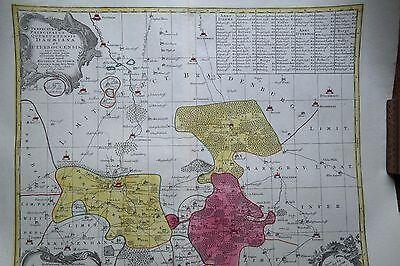 Landkarte von Seutter in Kupferstich von Dahme, Jüterbog und Umgebung, 1740