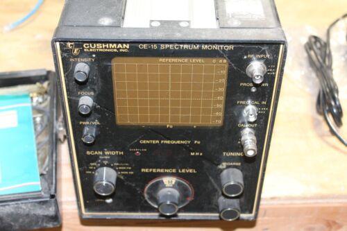 Cushman CE-15 Spectrum Monitor