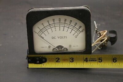Vintage Panel Meter 0-50 Volts Dc Gauge Model Am-77 Steampunk Weston Ge