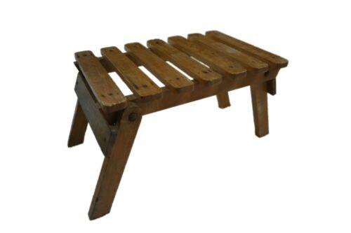 HANDMADE wooden folding fishing artist chair stool vintage 60