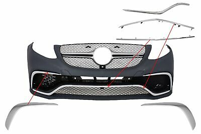 Spoiler Splitter Klappen Verzierung Chrom für Mercedes GLE C292 15-18 A-Design