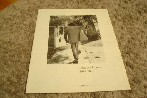 JOHN LEE HOOKER 1917-2001 tribute ad walking away while waving goodbye