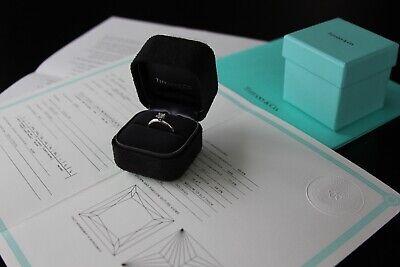 Tiffany & Co .33ct VVS1 Princess Cut Diamond Platinum Engagement Ring, RRP £2500