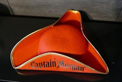 Captain Morgan Rum, Piratenhut, Dreispitz, Fasching, Dreiecks Hut, rot
