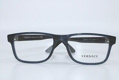 Versace VE3211 5111 TRANSPARENT BLUE Eyeglasses New Authentic 55