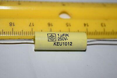 Iska Keu1012 1uf 250v 10 Axial Vintage Capacitor New Quantity-10