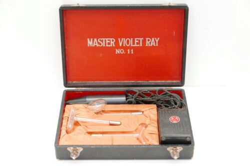 Master Violet Ray 11 Quack Medical Device with Case and Attachments