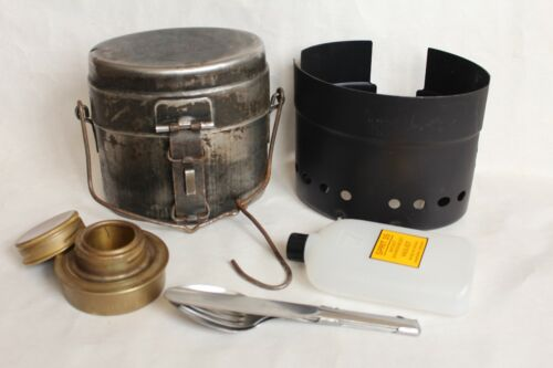 WW2 Vintage Swedish Army mess kit Enmanskök Kokkärl M40 + stove kit