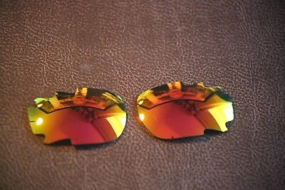 PolarLenz Red Fire Iridium Replacement Lens for-Oakley Jawbone / Racing Jacket