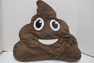 New Emoji Poop Shaped Stuffed Pillow~Emojicon Smiley Face~Plush Novelty Toy