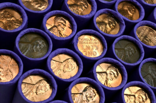 RARE Uncirculated BU Penny On Lincoln Wheat Cent Roll PDS PENNIES MIXED DATES 💲
