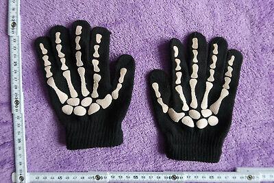 Handschuhe Gloves Skelett schwarz Einheitsgröße für Kinder wie - Skelett Handschuhe Für Kinder