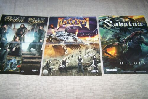 3 POSTERS from SABATON ORDEN OGAN MAJESTY WOLFHEARTWINTERSUN 40X30 CM.