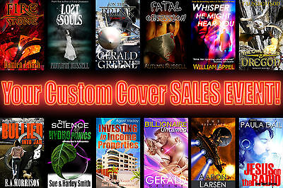 CUSTOM BOOK COVER $99 First Time Customer Special! graphic ecover design