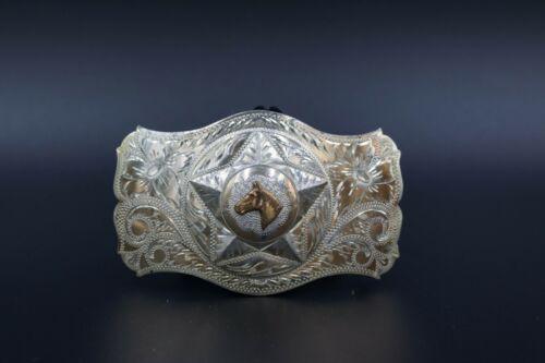 Irvine & Jachens Inc. Sterling Silver Hand Engraved Belt Buckle
