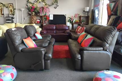 TODAY DELIVERY LUXURY GENUINE LEATHER RECLINER 3X1X1 sofas set