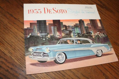 1955 DeSoto  Deluxe large poster type page Sales Brochure Chrysler Corporation