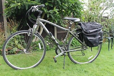 MARIN Kentfield women's hybrid bike, 17 inch frame, 21 gears, with panniers