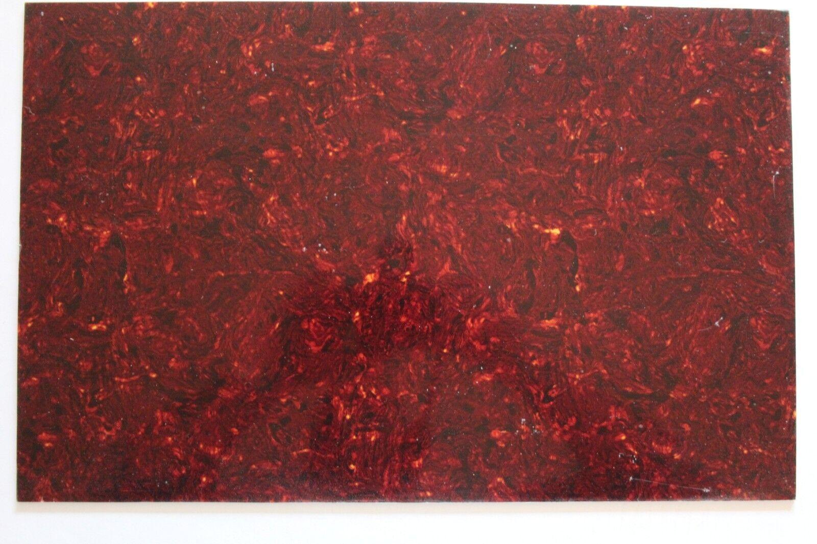 Tortoise TI Pickguard Schlagbrett scratch plate Rohling Platte rot  45 x 29 cm
