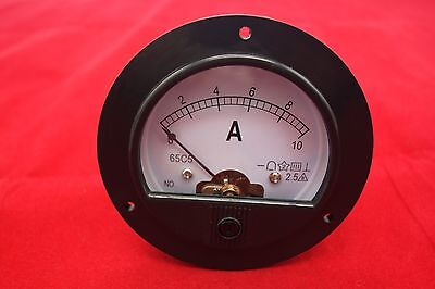 Dc 0-10a Round Analog Ammeter Panel Amp Current Meter Dia. 90mm Direct Connect