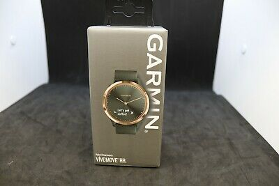 Garmin Vivomove HR Sport Hybrid Smart Watch - Black & Rose Gold