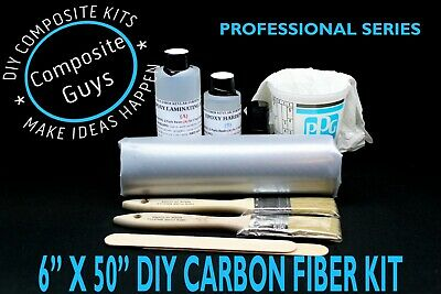 Real Carbon Fiber Fabric 6 X 50 Laminating Skinning Starter Kit 3k 2x2 Twill