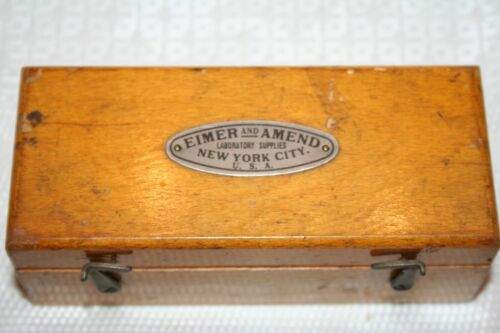 Vintage EIMER AND AMEND Gram Scale Weight Set New York City Laboratory Supplies