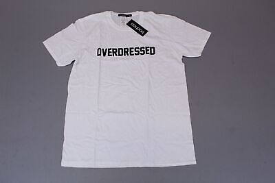 boohoo Women's Plus Overdressed Slogan Tee SV3 White Size US:12 NWT