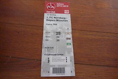 Sammlerticket 1. FC Nürnberg - Bayern München Saison 2012/2013 gebraucht kaufen  Michelau