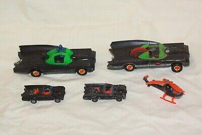 Vintage BATMOBILE BATMAN Cars Helicopter Corgi Junior Azrak Ahi Toys Lot of 5