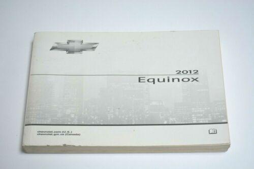 2012 CHEVROLET EQUINOX OWNERS MANUAL GUIDE BOOK OEM