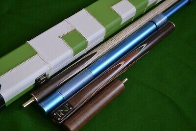 NEW ROBIN SCOTT HAND MADE 3/4 ASH POOL SNOOKER CUE, EXTENSIONS and LUXURY CASE