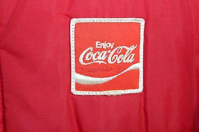 VTG Enjoy Coca Cola Red Puffy Jacket Coat Swingster Size M Medium