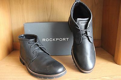 Rockport Charson Lace Chukka Boot Men Black Size 12  V74246