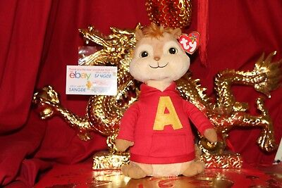 "TY BEANIE BUDDY ALVIN THE CHIPMUNK ""ALVIN-THE CHIPMUNK MOVIE""-9""-2012-NICE GIFT"
