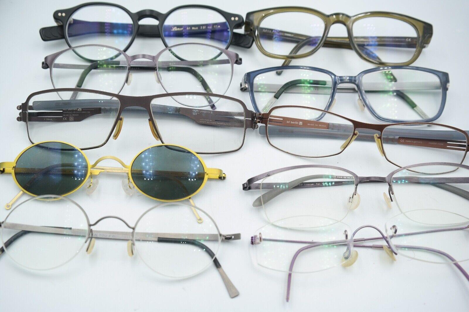 10 x Brille Brillengestell Paket Lot Konvolut Lindberg Mykita Lunor IC Berlin