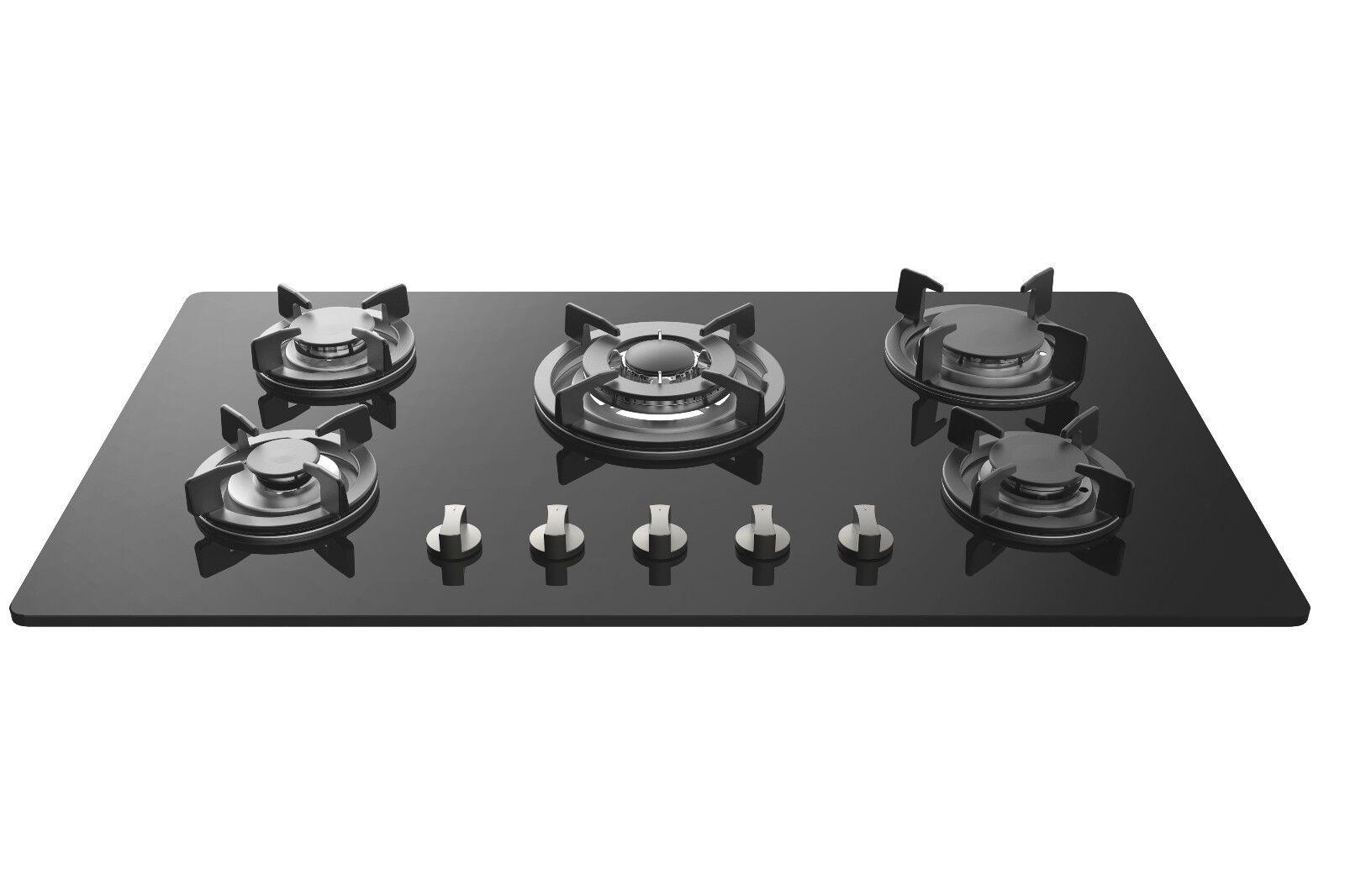 empava 34 tempered glass built in 5 burners gas cooktop gas stove hob ebay. Black Bedroom Furniture Sets. Home Design Ideas