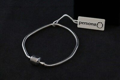 Brand New Persona Sterling Silver Signature Bracelet With Tags $65 Retail