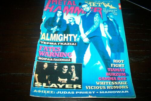 GREEK METAL HAMMER MAGAZINE 10/1994 THE ALMIGHTY FATES WARNING FIGHT SLAYER