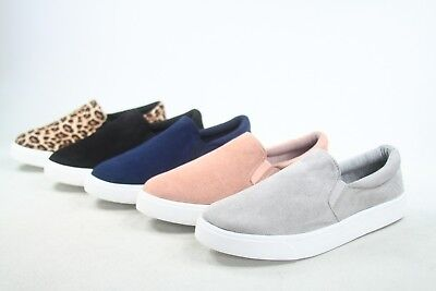 NEW Women's Fashion Classic Slip On Flat Round Toe Deck Shoes Size 5.5 - 11