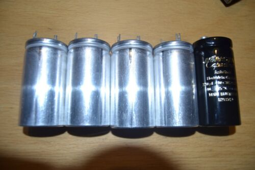 Audio grade capactors from Jensen factory 6 pieces of 2 x 100 uF 500 vdc