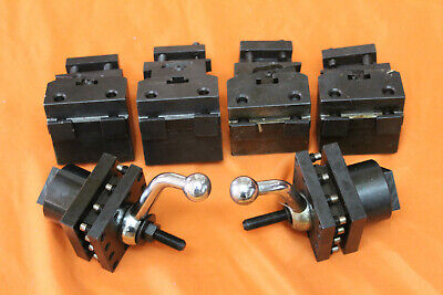 6 Lathe Square Four Way Tool Post Holders Turrets Mill Machinist Tools